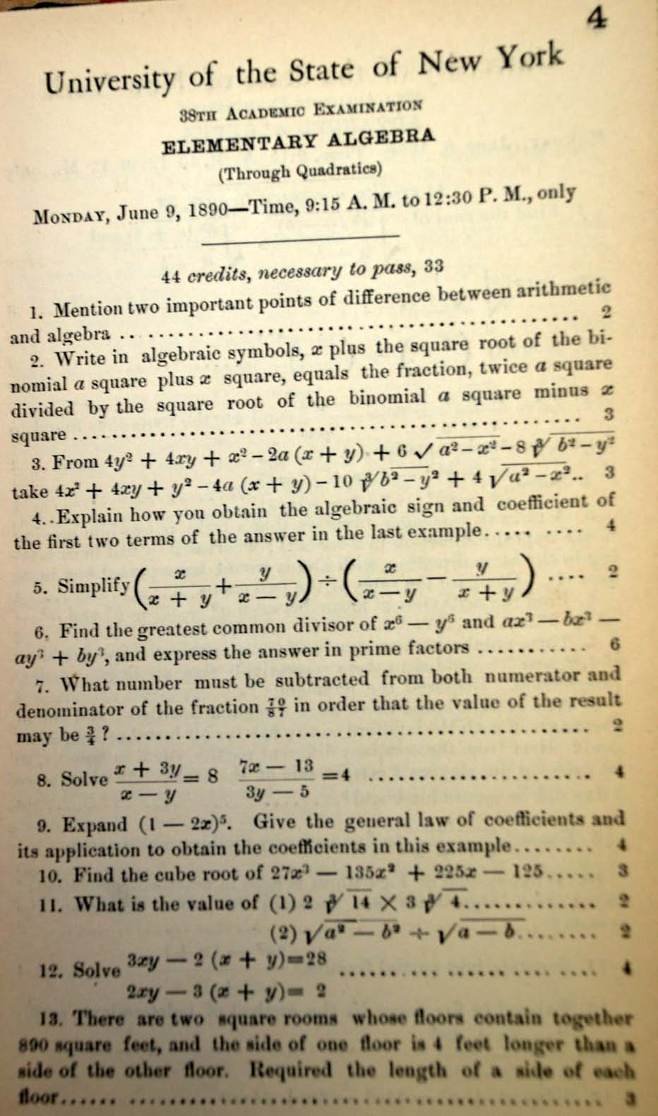 My 100th post so why not bash algebra granted and even the widely praised problem based program in math at exeter including by me here errs on the side of asking narrowly focused questions fandeluxe Image collections
