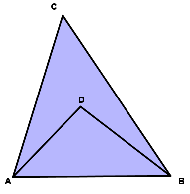 triangle and interior point -- GW